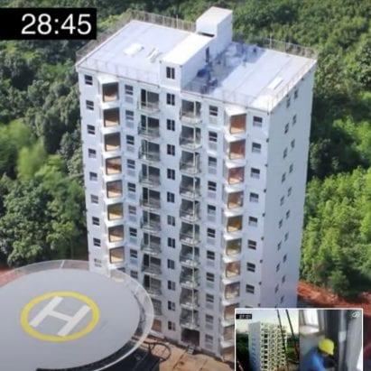 Ten-storey stainless-steel apartment block built in 28 hours – Architecture – Dezeen