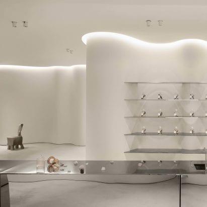 "FOG Architecture creates ""modern cave"" for ToSummer's Beijing store – Interiors – Dezeen"
