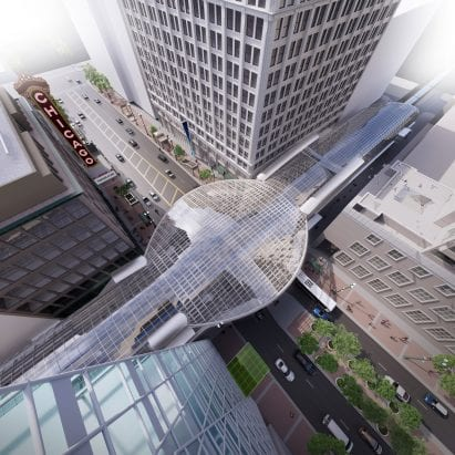 SOM reveals plan to add curving glass canopy to Chicago metro station – Architecture – Dezeen