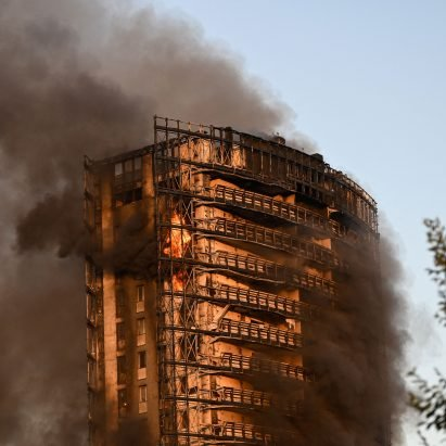 """Milan apartment block fire """"closely recalled Grenfell Tower"""" says mayor – Architecture – Dezeen"""