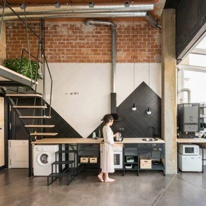 CumuloLimbo inserts plywood-clad loft within UpHouse in Madrid – Interiors – Dezeen