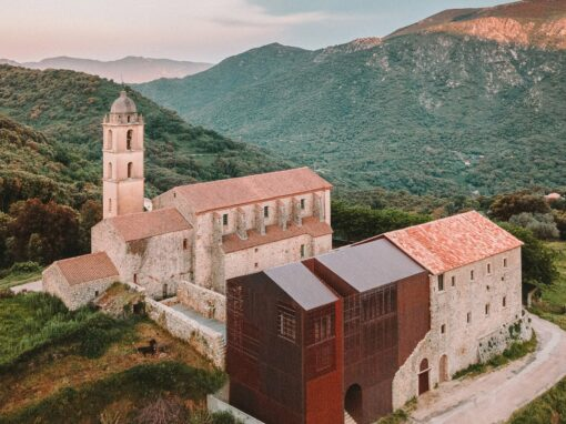 Amelia Tavella Architectes adds perforated copper extension to a Corsican convent – Architecture – Dezeen